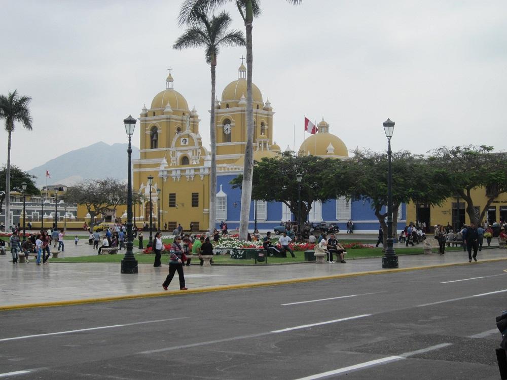 Trujillo Plaza de Armas Norden von Peru