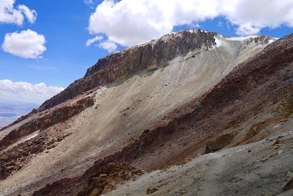 Trekking in Peru, chachani besteigung