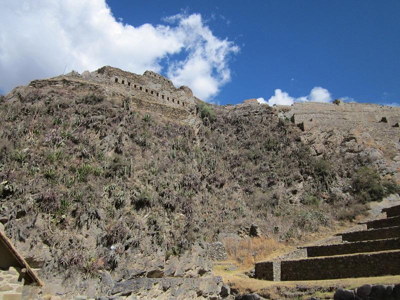 Ruinen und Stättten in Peru Ollantaytambo inka festung cusco