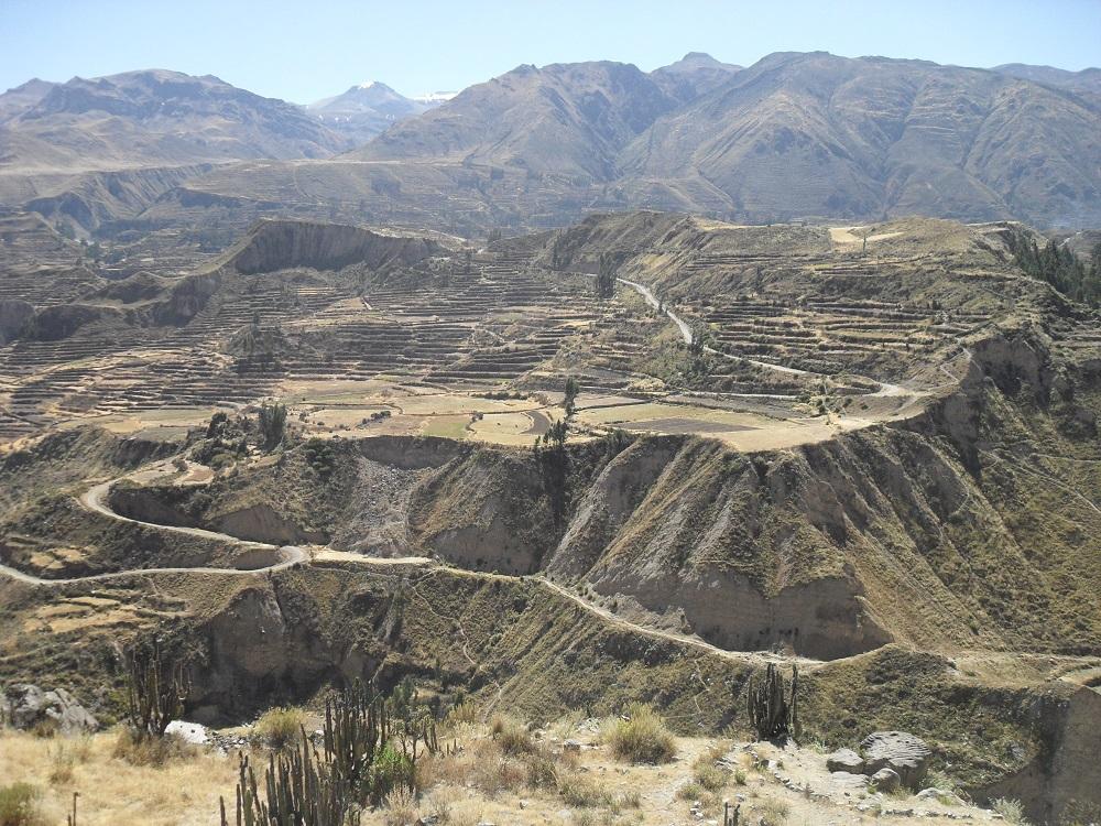 colca canyon colca tal terrassen