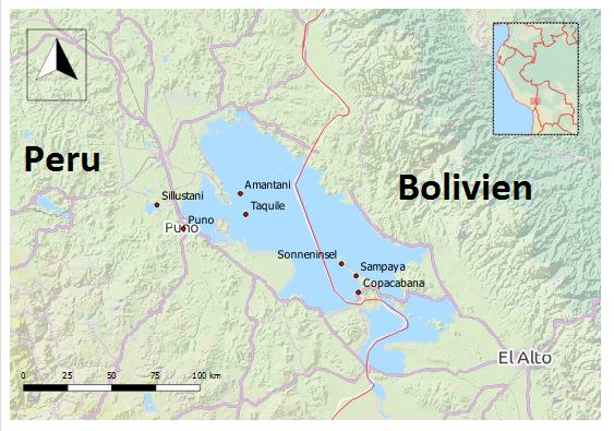 titicacasee peru bolivien sehenswürdigkeiten karte