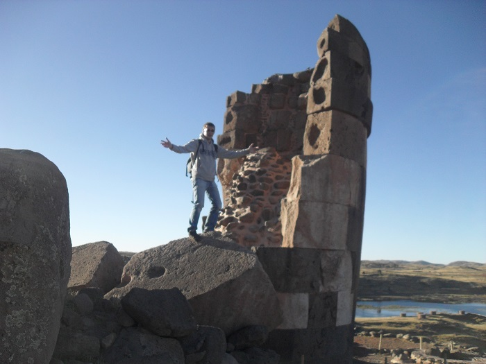 Sillustani titicacasee grabtürme konstruktion