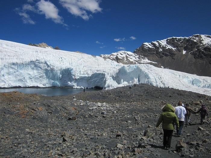 Gletscher Nevado Pastoruri Huaraz Peru