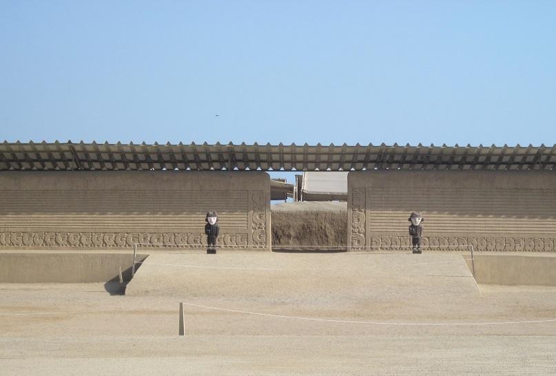 Ruinen und Stätten in Peru. Chan Chan bei Trujillo