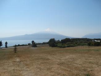 Der Vulkan Osorno liegt im Nationalpark Vicente Perez Rosales, nordöstlich von Puerto Montt.