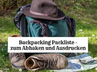 Backpacking Packliste - zum Abhaken und Ausdrucken