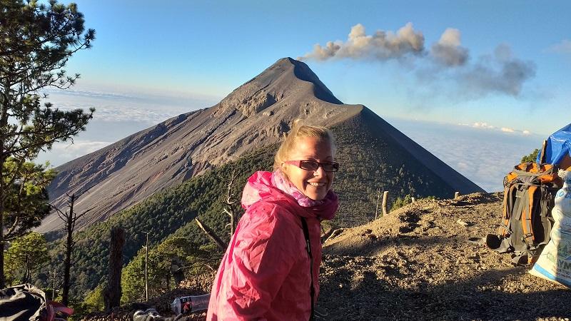 Backpacking Guatemala Vulkan Acatenango