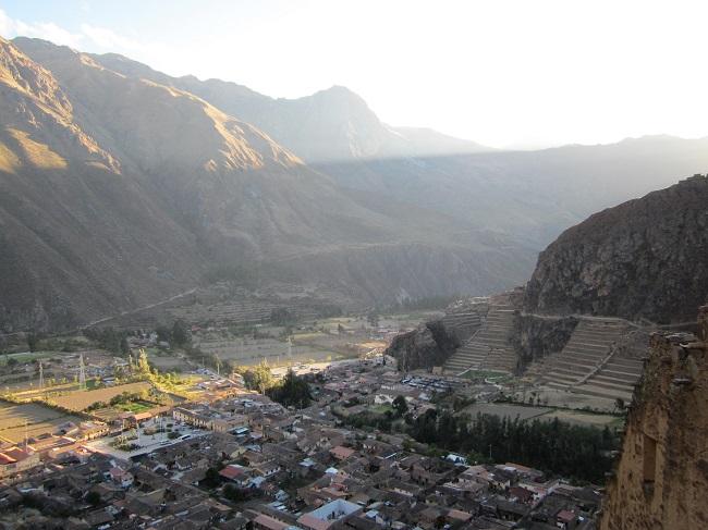 heiliges tal der inka ollantaytambo festung peru