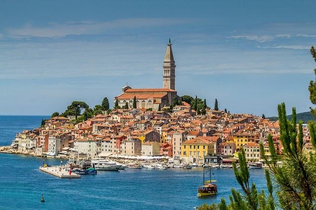 Schöne städte kroatie rovinj am meer