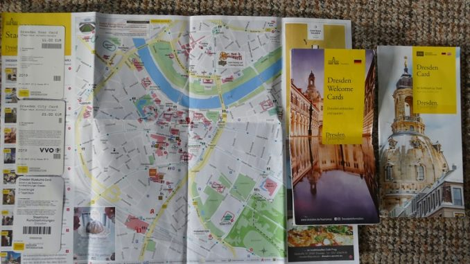 Dresden Welcome Cards mit Stadtplan