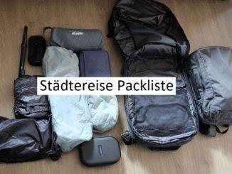 städtetrip Packliste